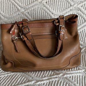 Authentic Coach Saddle Brown Bag.